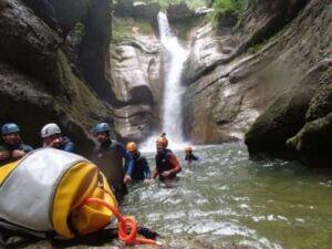 Découverte du canyoning sportif de coiserette dans le jura