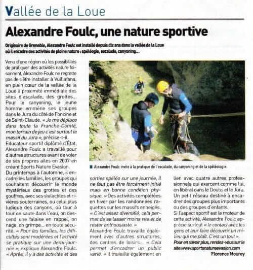 Alexandre Foulc, une nature sportive !