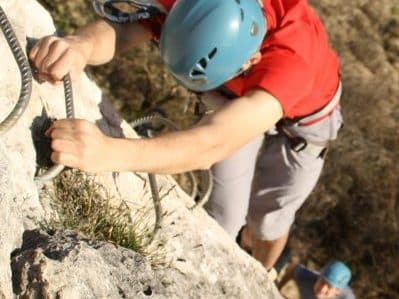 initiation à la via-ferrata dans le Doubs