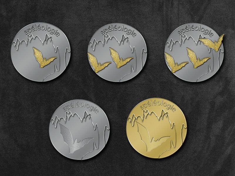 Les 5 médailles de progression en spéléologie avec les chauves-souris